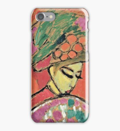 Alexei Jawlensky - Young Girl With A Flowered Hat  iPhone Case/Skin