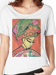 Alexei Jawlensky - Young Girl With A Flowered Hat  Women's Relaxed Fit T-Shirt