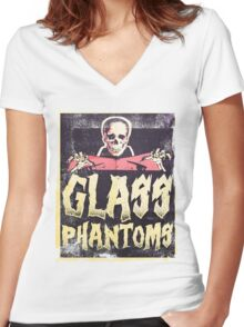 Glass Phantoms - Retro Undead Women's Fitted V-Neck T-Shirt