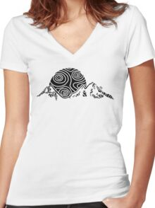 narZart Three Sisters Women's Fitted V-Neck T-Shirt