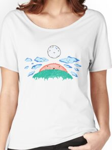 Sun, Sky, and Moon Women's Relaxed Fit T-Shirt