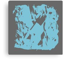 Simple Blue & Grey Abstract Canvas Print