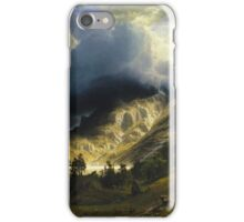 Albert Bierstadt - A Storm In The Rocky Mountains Mt Rosalie iPhone Case/Skin