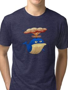 Alfred the Angry Atomic Whale Tri-blend T-Shirt