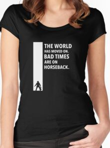 The Dark Tower Time white Women's Fitted Scoop T-Shirt