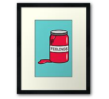 Feelings in Jar Framed Print