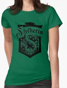 Slytherin House Crest  Womens Fitted T-Shirt
