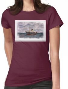 SS Kyle Shipping Vessel In Newfoundland Womens Fitted T-Shirt