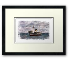 SS Kyle Shipping Vessel In Newfoundland Framed Print