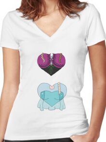 Sisterly Love Women's Fitted V-Neck T-Shirt