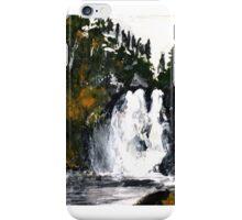 Canada Waterfall Nova Scotia Acrylics On Paper iPhone Case/Skin