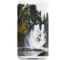 Canada Waterfall Nova Scotia Acrylics On Paper Samsung Galaxy Case/Skin