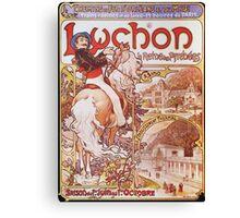 Alphonse Mucha - Luchon La Reine Des Pyreneesluchon Queen Of The Pyrenees Canvas Print