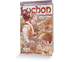 Alphonse Mucha - Luchon La Reine Des Pyreneesluchon Queen Of The Pyrenees Greeting Card