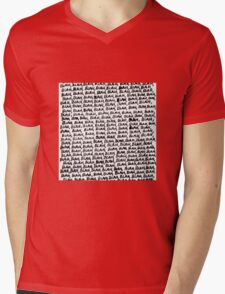 blah Mens V-Neck T-Shirt