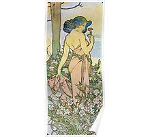Alphonse Mucha - Oeilletcarnation Poster