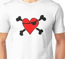 Pirate Heart (clear background) Unisex T-Shirt