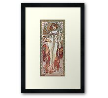 Alphonse Mucha - Pagp Automneautumn Framed Print