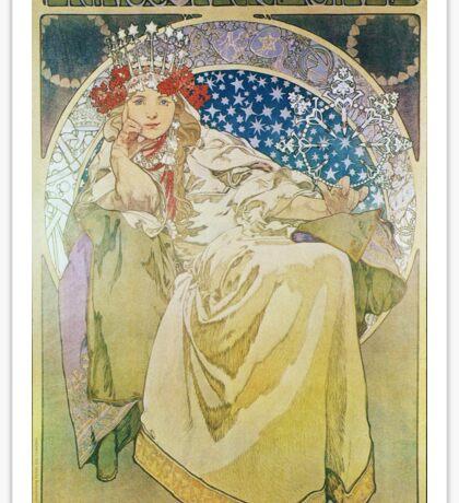 Alphonse Mucha - Princezna Hyacinta Sticker