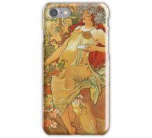 Alphonse Mucha - Autumn 1896 iPhone Case/Skin