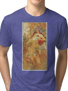 Alphonse Mucha - Autumn 1896 Tri-blend T-Shirt
