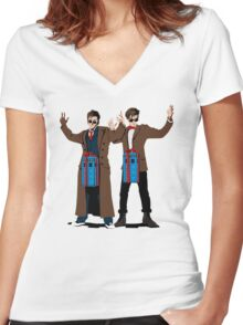 Doc In A Box: Bigger On The Inside Women's Fitted V-Neck T-Shirt