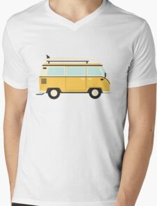 Yellow Kombi Mens V-Neck T-Shirt
