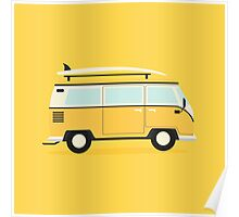 Yellow Kombi Poster