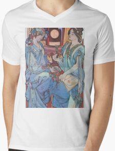 Alphonse Mucha - Benedictine Mens V-Neck T-Shirt