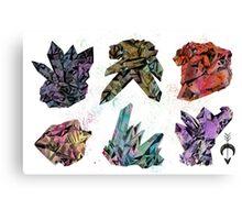 6 Crystals Canvas Print