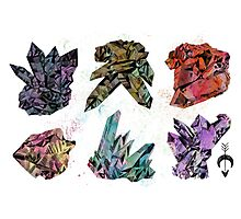 6 Crystals Photographic Print