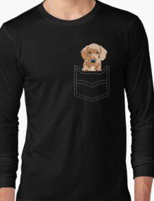 Daschund in a pocket Long Sleeve T-Shirt