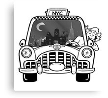 New York Taxi Driver Canvas Print