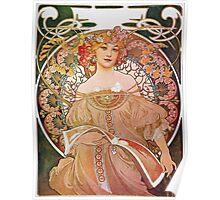 Alphonse Mucha - Reverie Daydream Poster
