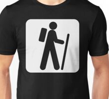 Recreational Hiking Sign Symbol  Unisex T-Shirt