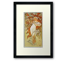 Alphonse Mucha - Spring 1896 Framed Print