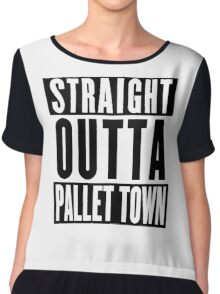 STRAIGHT OUTTA PALLET TOWN (A) Chiffon Top