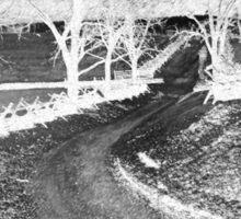 The Bloody Lane, Antietam. Civil war Battlefield. American History.  Sticker