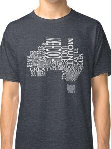 Australian Distilleries Map (White) Classic T-Shirt