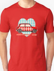 Gingham Heart, Happiness Is Mini Shaped Unisex T-Shirt