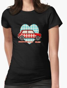 Gingham Heart, Happiness Is Mini Shaped Womens Fitted T-Shirt