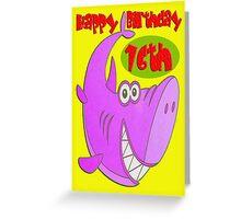 Pink Shark Sixteenth Birthday Greeting Card