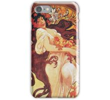 Alphonse Mucha - Chocolat Massonchocolat Mexicain Autumn iPhone Case/Skin