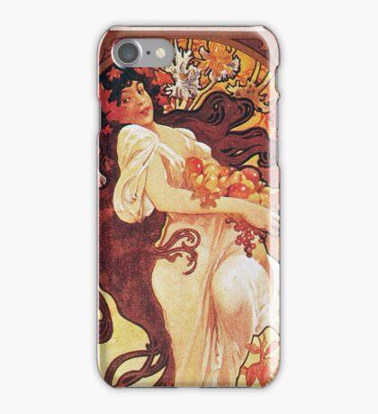 Alphonse Mucha - Chocolat Massonchocolat Mexicain Autumn iPhone Case/Skin