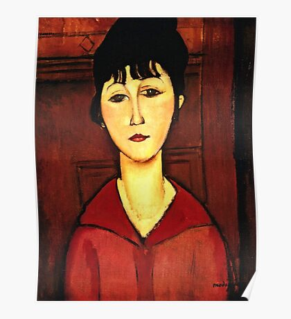 Amedeo Modigliani - Head Of A Young Girl  Poster