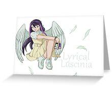 Ruri Kurosaki - Lyrical Luscinia Greeting Card