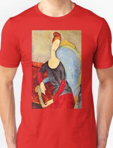 Amedeo Modigliani - Mme Hebuterne In A Blue Chair  Unisex T-Shirt