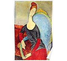 Amedeo Modigliani - Mme Hebuterne In A Blue Chair  Poster