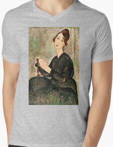 Amedeo Modigliani - Portrait Of Dedie Hayden  Mens V-Neck T-Shirt