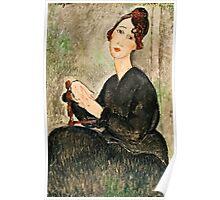 Amedeo Modigliani - Portrait Of Dedie Hayden  Poster